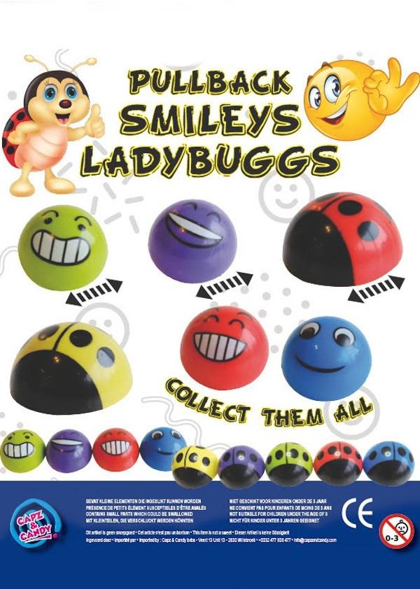 Pullback Smileys LadyBuggs